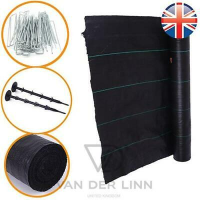 *UK Seller* 10M Long 100gsm Weed Control Fabric Membrane Garden Ground Cover
