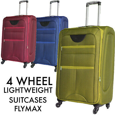 XL Large 4 Wheel Suitcase Lightweight Luggage Expandable Big Soft Travel Hold