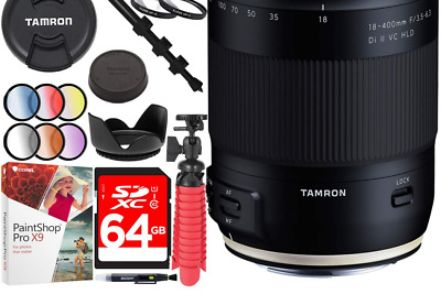 Tamron 18-400mm f/3.5-6.3 Di II VC HLD All-in-One Lens for Canon Mount Bundle...