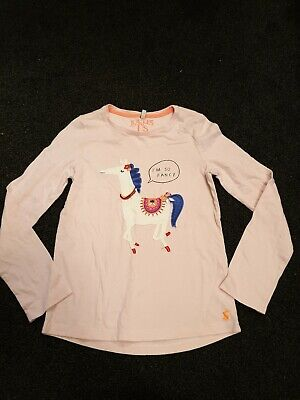 used girls joules pink 9.10 years long sleeved t shirt
