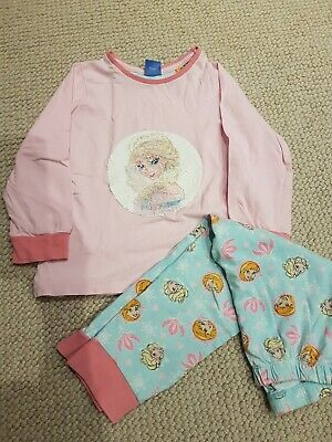 Girls Disney Frozen Elsa/Anna Sequin Pyjamas Age 4-5 Years