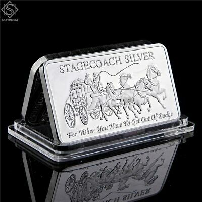 Territorial Mint 999 Fine Stagecoach 1/4 Ounce 999 Silver Divisible Bar new