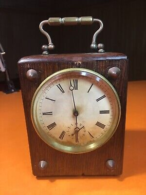 Antique Brass Drum Carriage Clock