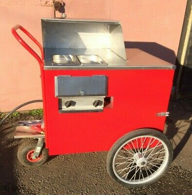 Hot Dog Cart. American Style Gas Powered. 2 pots, hot dogs and onions