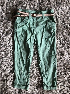 Next Green Belted Chino Style Trousers Age 4