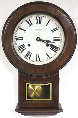 Vintage drop Dial Wall Clock 31 Day Striking Mahogany Wall Clock By President