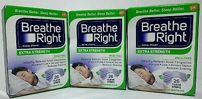 NEW BUNDLE 78(3x26)+27+18+4=127 Strips Breathe Right Nasal Strips SEE PICTURES