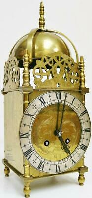 Superb Antique French 8 Day Brass Lantern Carriage Clock, Platform Escapement