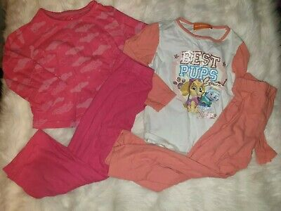Girls 2-3 Years snuggle Pyjamas Sleepsuit Sleepwear bundle Paw Patrol Next Day