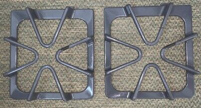 Two (2) Whirlpool Gas Range Burner Grates # 8053390; Gray; Used