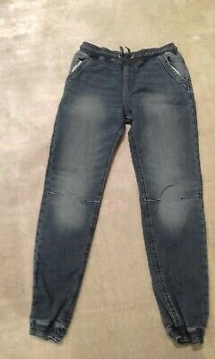Boys George Blue Cuffed Jogger Jeans Size 11-12 Years 146-152cm. Excellent cond