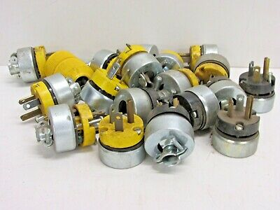 ASSORTED LOT of 15AMP, 277 VOLT, LEVITON PLUGS, CORD ENDS.