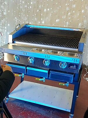 Comercial Gas BBQ grill for piri piri steaks and flame grill burgers