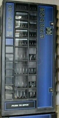 Used lot of 4 Antares combo snack/drink vending machines. Soda unit not cooling