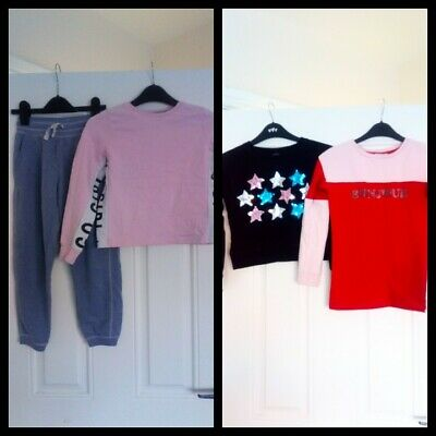 Girls Outfit Jumpers And Jogging Bottoms George, F&F 7-8 Years
