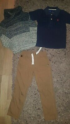 Joules, Primark, Dunnes 4 Year Old Boy Outfit, Jumper, Polo, Trousers