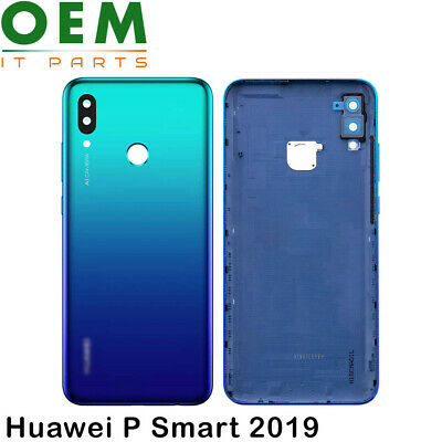 Huawei P Smart 2019 Battery Back Cover Rear Housing Camera Lens Aurora Blue New