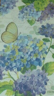 2 x  Paper Napkins Large.  Decoupage Crafts 3ply - French Hydrangea Garden