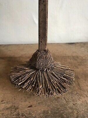 Old Antique Handmade WORN TATTERED MOP Broom Patina AAFA Country Primitive