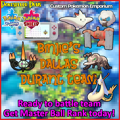 Full VGC Team Dallas Regional Second Place , Shiny and Battle Ready!