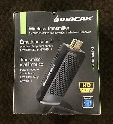 IOGEAR Wireless HDMI Transmitter GWHDSTXB Connect & Wirelessly Transmit Content