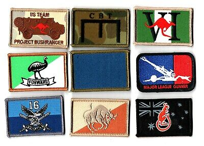 a lot of 9 mixed Australian Army Unit Patches                   . Lot 2