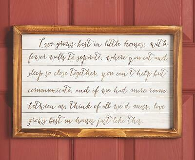 Inspirational Mini Wooden Wall Sign W Rustic Country Charm Home