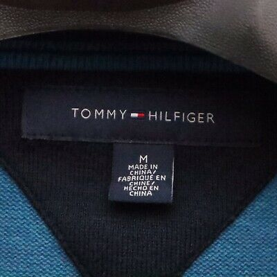 New Tommy Hilfiger Men/'s Textured Streaked V Neck Blue Pullover Sweater XL