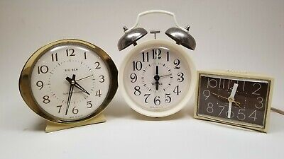 Vintage Westclox Big Ben Alarm Clock, Retro Westclox and Timex Made In USA. LOT