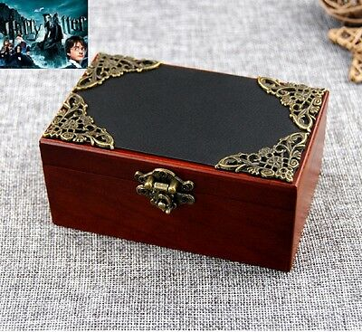 Vintage Rectangle  Black Cover Wind Up Music Box : Harry Potter Hedwigs Theme