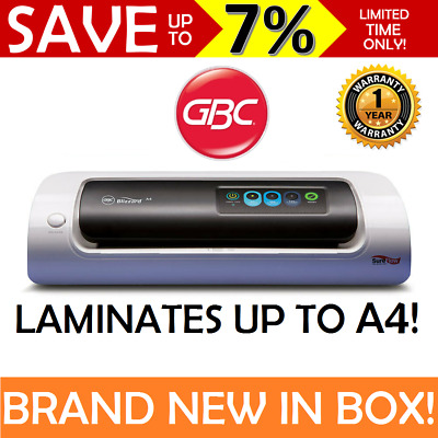 NEW GBC Blizzard A4 Paper Laminator Laminating Machine Work Office Home Business