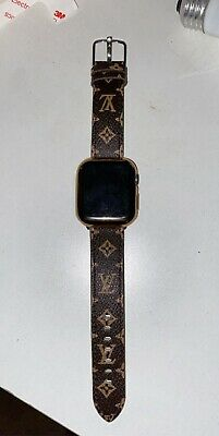 Brand New Apple Watch Series 4 With Louis Vuitton Band And Gold Case/