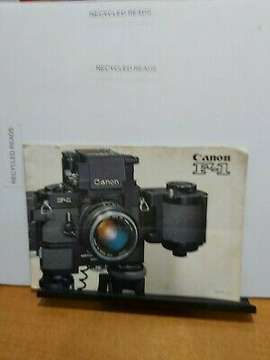 Vintage camera brochure/catalogue.  Canon f-1 SLR 1970s
