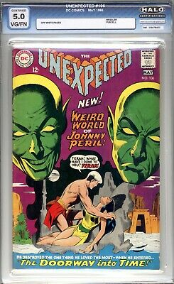 The Unexpected #106 - HALO Graded (5.0 VG/FN) 1968 - Silver Age