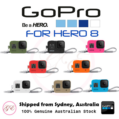 GENUINE GoPro Sleeve + Lanyard for HERO8 (8 COLOURS AVAILABLE)