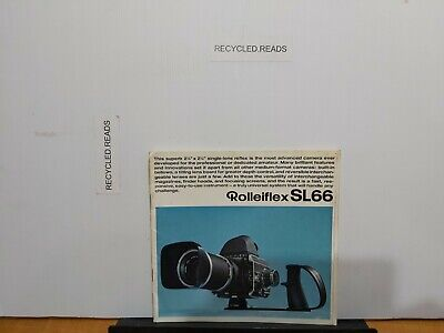 Vintage camera brochure/catalogue.  Rolleiflex SL66