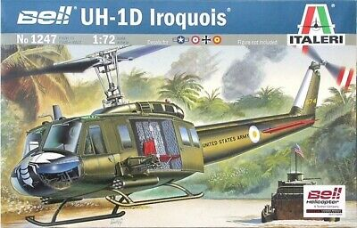 Italeri 1247 1/72 Scale Model Military Helicopter Kit Bell UH-1D Slick Iroquois