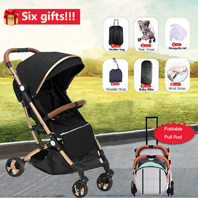 Portable Foldable Baby Stroller Pram Compact Lightweight Buggy Travel Carry-on