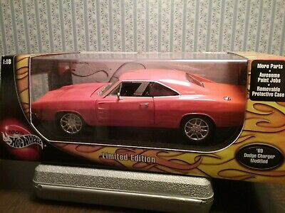 Hot Wheels 1/18  1969  Dodge Charger  Model  New In Box