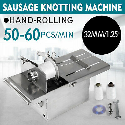 32mm Sausage Knotting Tying Machine Hand-rolling Food Shop Families Commercial