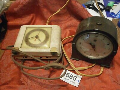 Clocks Mains Electric Mantles alarm JOB LOT. parts bakalite Genalex Westclox