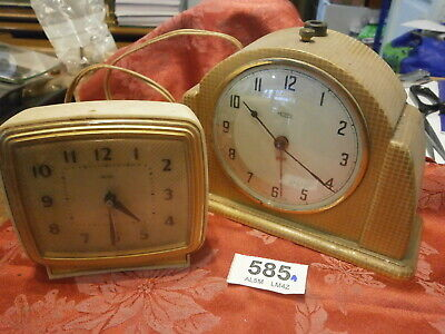 Clocks Mains Electric Smiths, Metamec Mantle alarm JOB LOT. repair parts spares