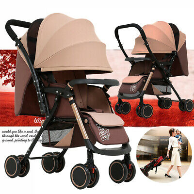 2020 Reversible Stroller Lightweight Compact Baby Pram Travel Carry-on Pushchair