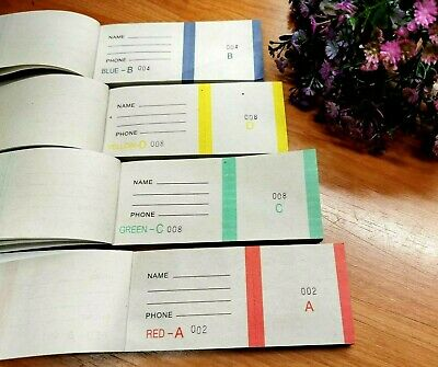 4pk Check Book Tickets Raffle Book Tickets  400 Tickets 4 Colours