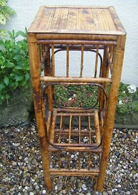 Vintage Bamboo Tall Plant Stand Plant Pot Holder Houseplant Stand