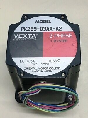**NEW** Oriental Motors PK299-03AA-A2 , VEXTA Stepping Motor 2-Phase DC4.5A 0.6Ω
