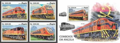 Z08 ANG190206ab Angola 2019 Trains MNH ** Postfrisch