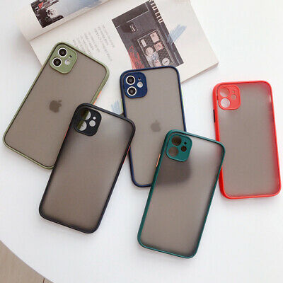For iPhone 11 Pro Max 11 Pro Matte Translucent Lens Protective Hard Case Cover