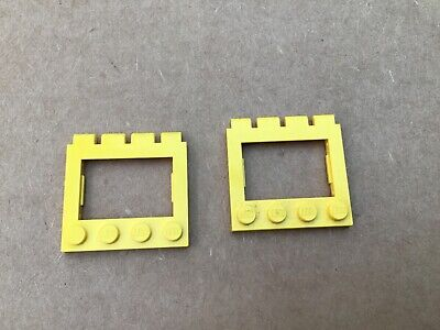 1 x VINTAGE LEGO YELLOW HINGED CAR TRUCK ROOF 4 x 4 C015