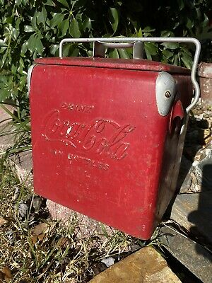 Vintage 1950's Original Coke Coca Cola 6 pack small Cooler